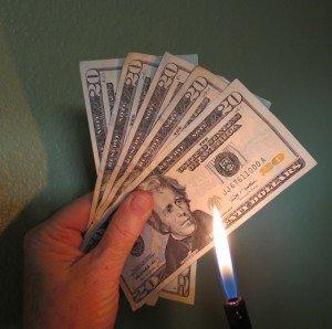 Cash burning