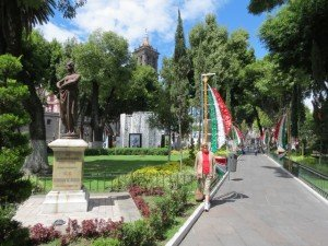 The beautiful main square (Zocolo) of Puebla.
