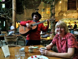 KG Oaxacx first dinner 300x225 Oaxaca and Final Thoughts—Travels With Thom & Kathy Part 4