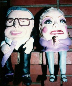 Who remembers these two? One of Mom's funny sculptures.